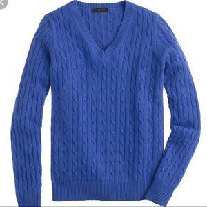 [j. crew] Cambridge Cable Knit V-Neck Sweater
